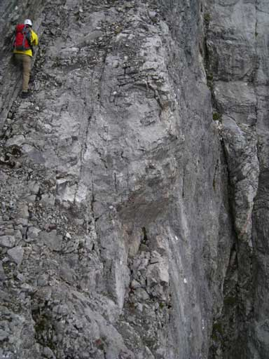 This picture shows the exposure on the ramp traverse