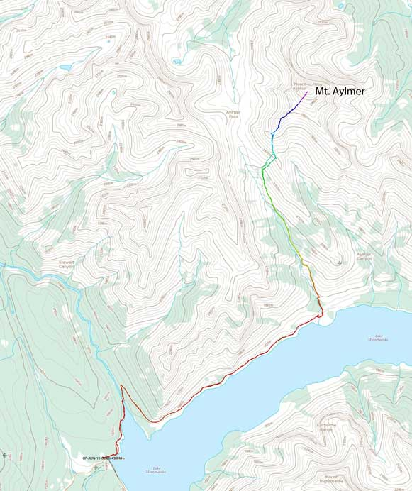 Mount Aylmer scramble route