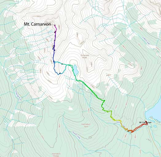 Mt. Carnarvon scramble route