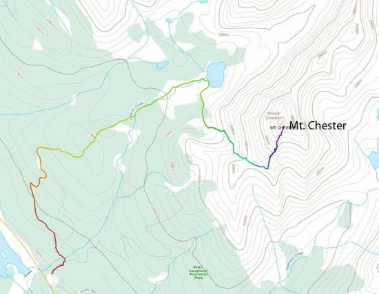 Mt. Chester standard scramble route
