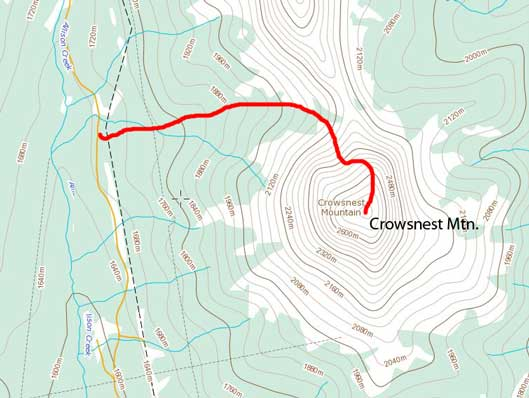 Crowsnest Mountain scramble route