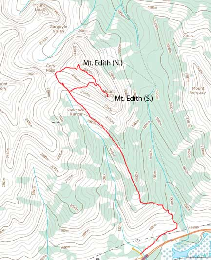 Mt. Edith scramble route