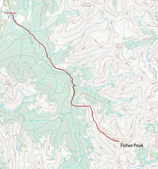 Fisher Peak standard scramble route