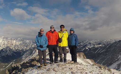 Our group shot on the summit. Photo by Ben