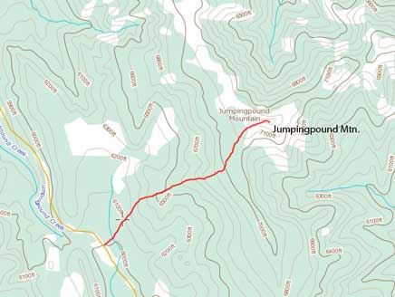 Jumpingpound Mountain hiking route