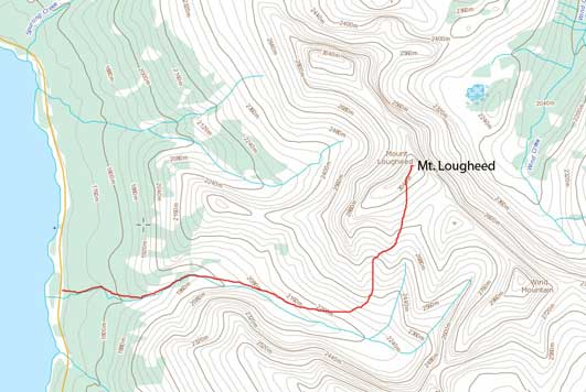 Mt. Lougheed scramble route