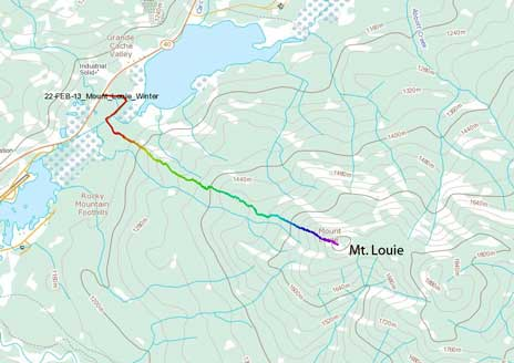 Mt. Louie hiking route