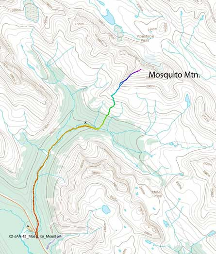 Mosquito Mountain standard route
