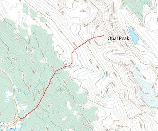 Opal Peak scramble route