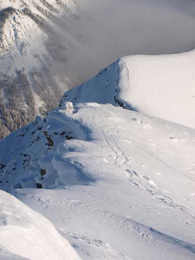 Looking down the east ridge