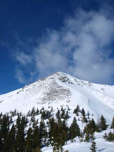 Fortulent Peak seen from Fortune/Fortulent col.