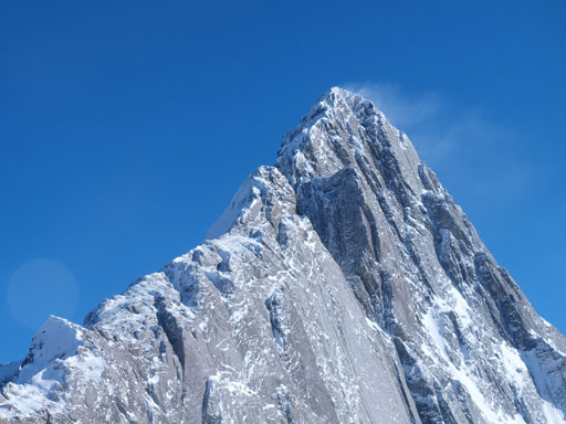 Mount Birdwood and its impressive North ridge