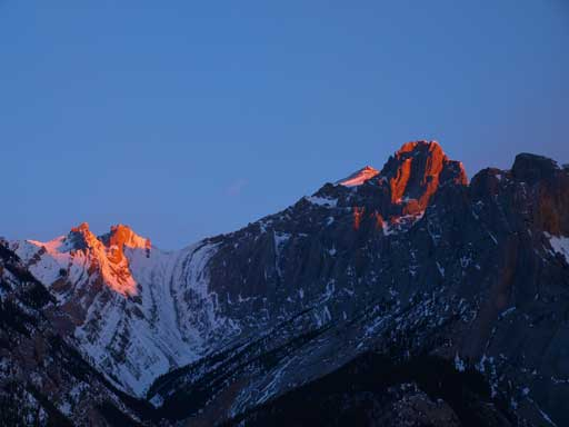 Alpenglow on Abraham Mountain