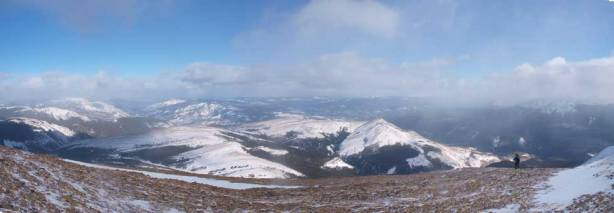 Panorama view while we were still high. Mount Stearn looks small from here.