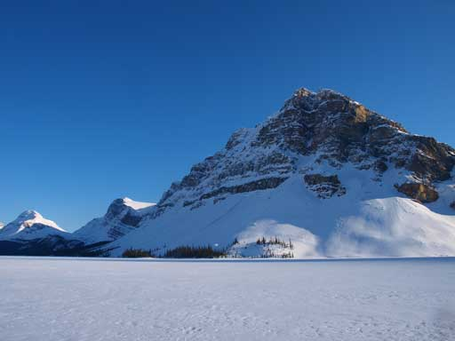 Crowfoot Mountain from Bow Lake