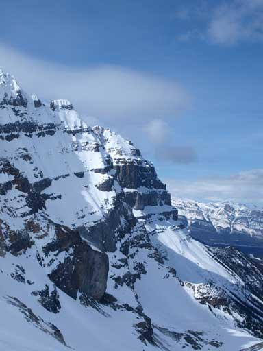 Impressive East face of Epaulette Mountain
