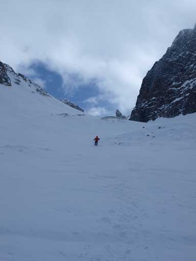Walking down the gully