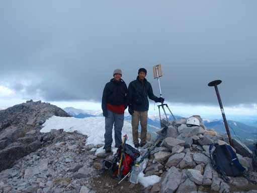 Eric and I on the summit
