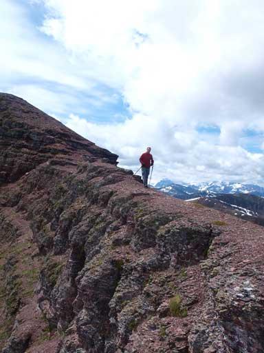 Eric descending from Newman Peak