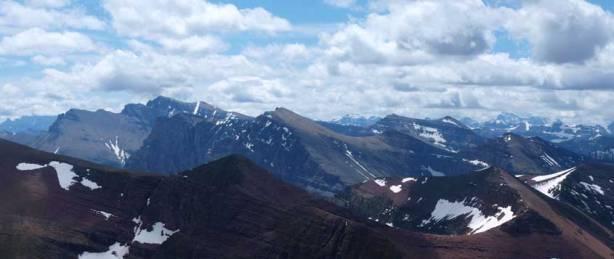 """Mt. Blakiston, Mt. Hawkins which are part of the """"Hawkins Horseshoe"""""""