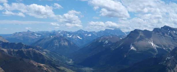 Mount Cleveland right of center. It's the highest in Glacier National Park.