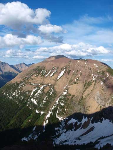 Kootenai Brown Peak seen from Mount Bauerman