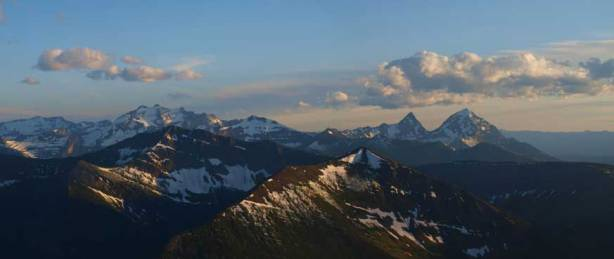 Long Knife Peak, King Edward Peak and Starvation Peak