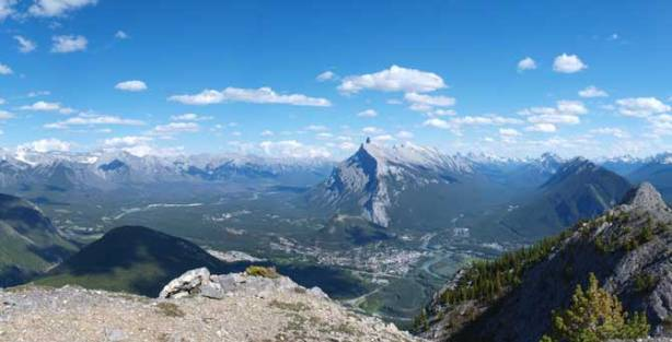 Mount Rundle, with Banff townsite below