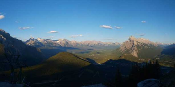 Another photo of Bow Valley. The sun was almost down.