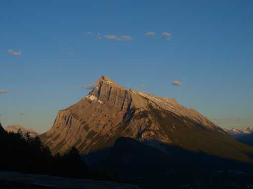 Evening view of Mount Rundle