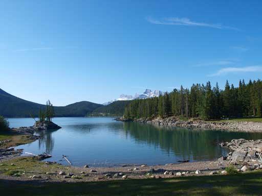 Morning view of Lake Minnewanka