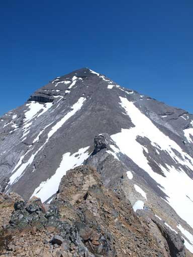 Mount Aylmer's upper slope
