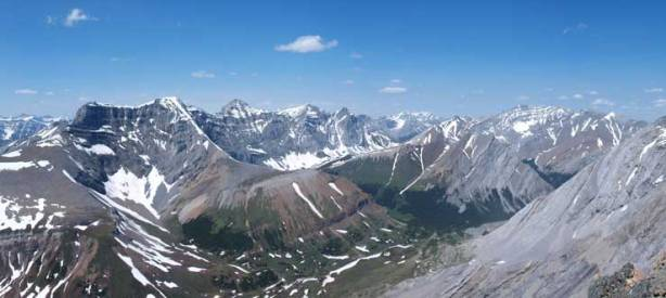 The Palliser Range looks better from this height than from the summit.