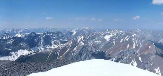 Looking North to more Palliser Range peaks