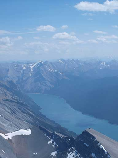 Lake Minnewanka is s-shaped and is very long. This is the middle part.