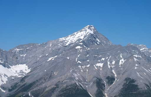 A closer look at Old Goat Mountain, the highest in Goat Range