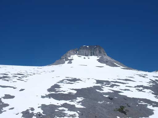 The summit block of Mt. Sparrowhawk seen from Read's Tower