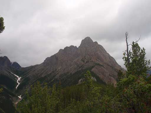 The south peak of Mt. Edith seen from Cory Pass Trail