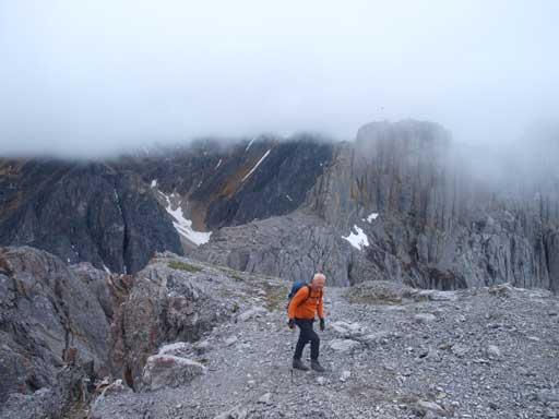 Wil on the summit of center peak