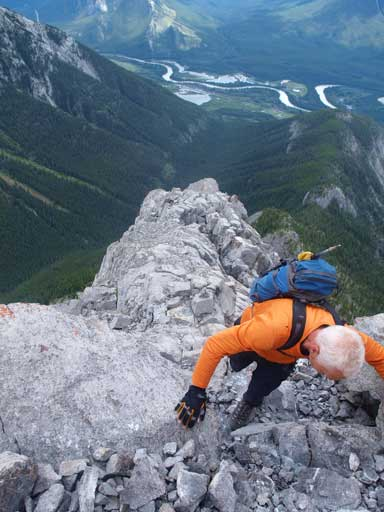 Wil finishing the last few steps on S. Ridge