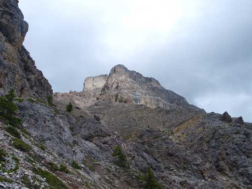 Looking back at the South peak of Edith