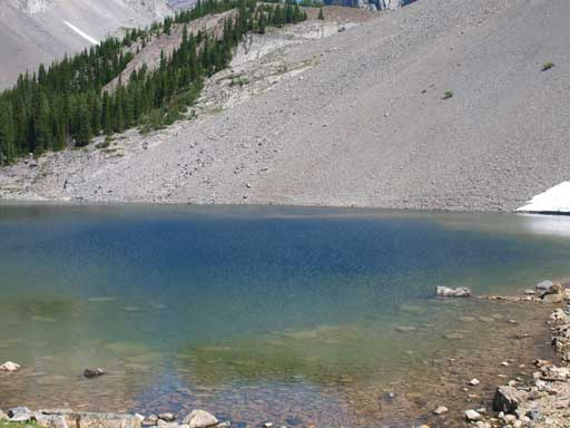The lake's colour is constantly changing