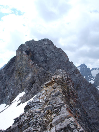 This is the summit ridge