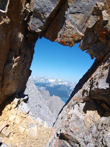 And then go through this rock window