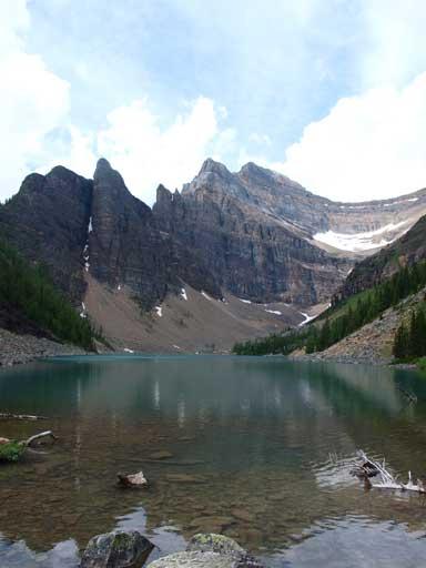 The classic shot of Lake Agnes
