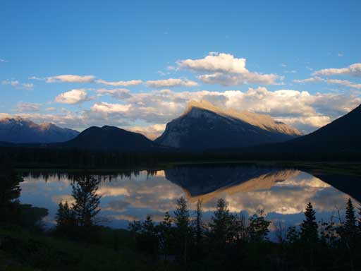 The classic shot of Vermillion Lakes, with Mt. Rundle in the background.