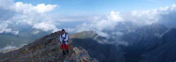 Grant on the broad north ridge