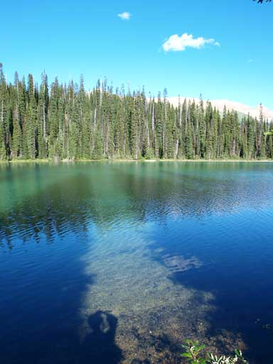 Another shot of Yoho Lake. I like the shadows produced by the trees.