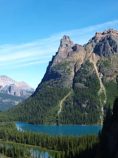 Wiwaxy Peaks West Tower and Lake O'Hara