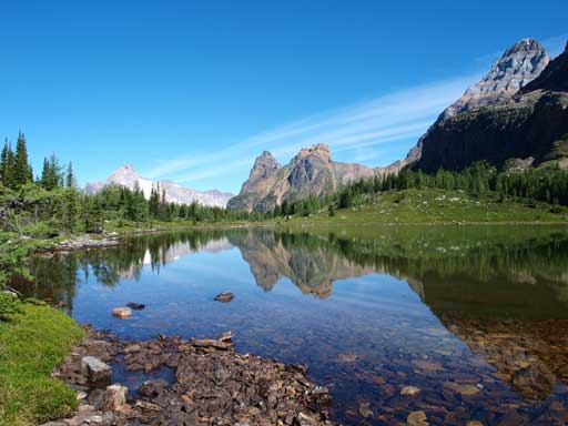 Reflection of Wiwaxy Peak in Hungabee Lake
